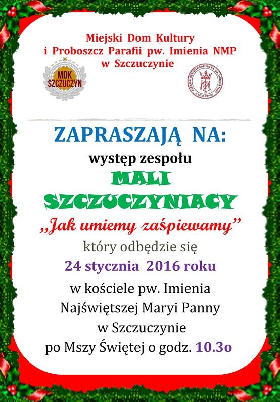 2016 Zaproszenie na wystep