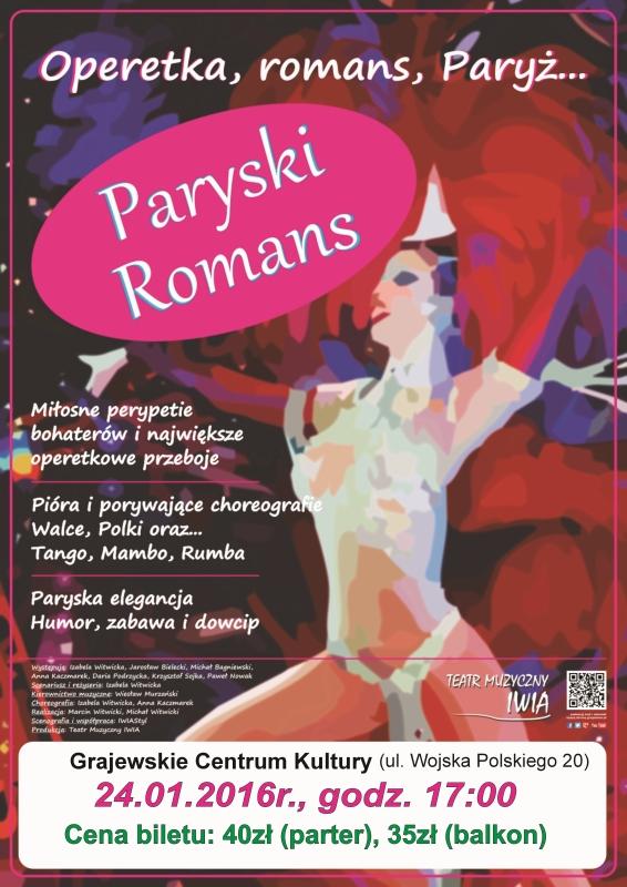 plakat operetka - koncert noworoczny